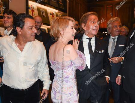 Chico Bouchikhi, Kylie Minogue and Valentino