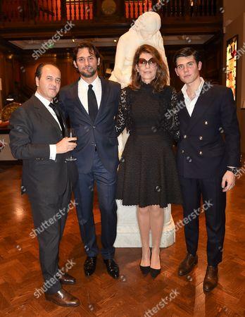 Stock Image of Prosper Assouline, Sebastien Assouline, Martine Assouline and Alex Assouline