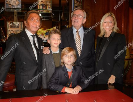 Valentino, Prince Aristides-Stavros, Prince Odysseas-Kimon and King Constantine of Greece and Crown Princess Marie-Chantal of Greece