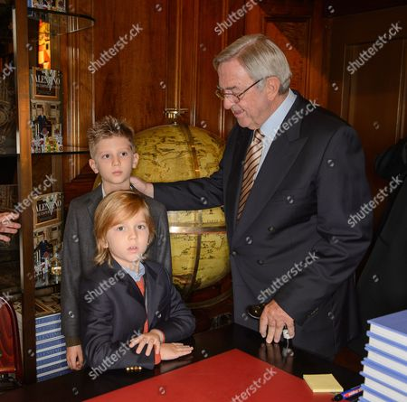 Prince Aristides-Stavros, Prince Odysseas-Kimon and King Constantine of Greece