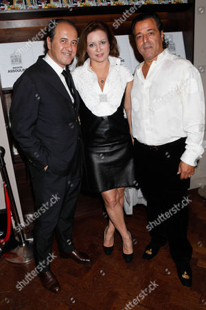 Stock Picture of Prosper Assouline, guest and Chico Bouchikhi