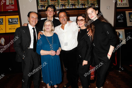 Stock Image of Prosper Assouline, Alexandre Assouline, Guest, Chico Bouchikhi and guests