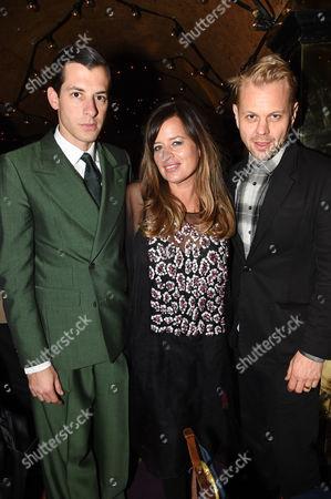 Mark Ronson, Jade Jagger and Adrian Fillary