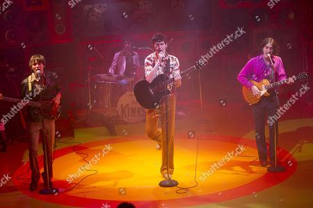 Ned Derrington (Pete Quaife), Adam Sopp (Mick Avory), John Dagleish (Ray Davies) and George Maguire (Dave Davies)