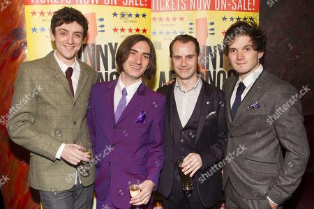 John Dagleish (Ray Davies), George Maguire (Dave Davies), Adam Sopp (Mick Avory) and Ned Derrington (Pete Quaife)