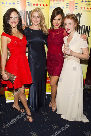 Amy Ross (Joyce), Carly Anderson (Gwen), Emily Goodenough (Peggy/Dance Captain) and Lillie Flynn (Rasa)