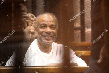 Editorial picture of Former Egyptian President Mohamed Morsi on trial, Cairo, Egypt - 29 Oct 2014