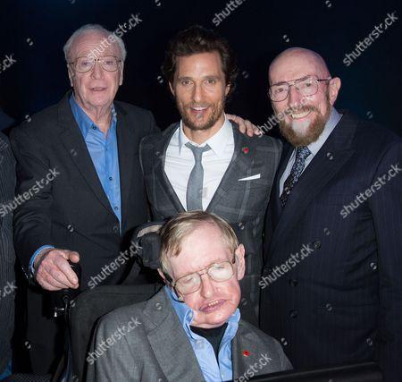 Sir Michael Caine CBE, Matthew McConaughey, Prof. Kip Thorne and Sir Stephen Hawking CBE
