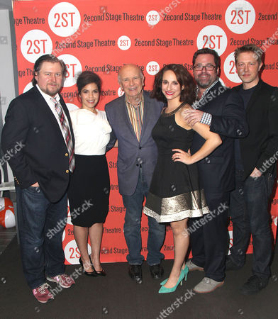 Stock Photo of Michael Chernus, America Ferrera, Playwright Terrence McNally, Tracee Chimo, Director Peter DuBois, Austin Lysy