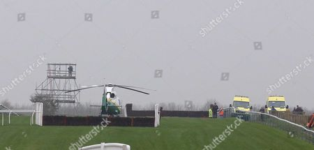 Kenny Johnson Air lifted to hospital from Sedgefield after a heavy Fall