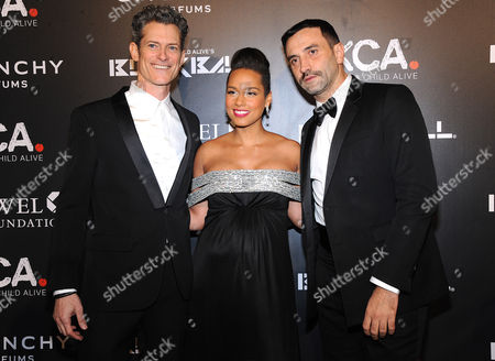 Peter Twyman, Alicia Keys and Riccardo Tisci