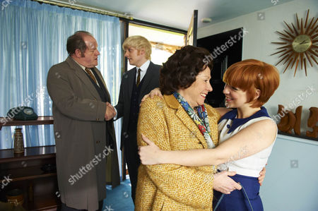 Sheridan Smith as Cilla Black , Melanie Hill (Big Cilla), Aneurin Barnard (Bobby Willis) and John Henshaw (John White