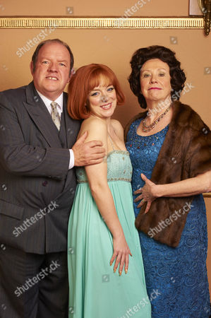 John Henshaw (John White), Sheridan Smith (Cilla Black) and Melanie Hill (Big Cilla)