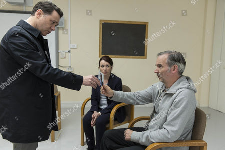 Reece Shearsmith as DS Sean Stone, Susan Lynch as Dr Ellesmere and Paul Ritter as Leonard Vance