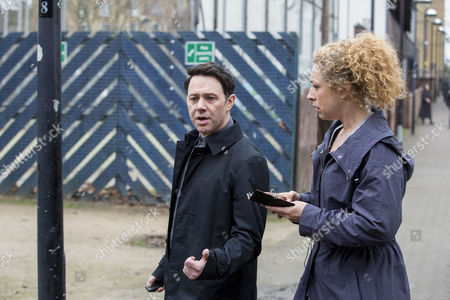 Reece Shearsmith as DS Sean Stone and Alex Kingston as Ruth Hattersley.