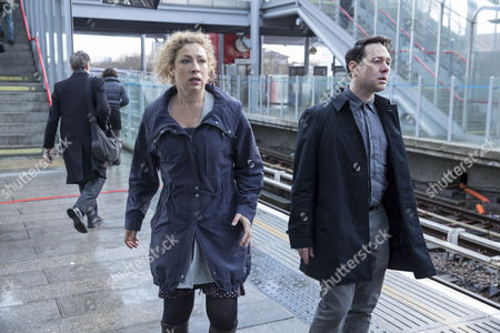 Reece Shearsmith as DS Sean Stone and Alex Kingston as Ruth Hattersley