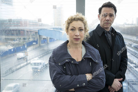 Alex Kingston as Ruth Hattersley and Reece Shearsmith as DS Sean Stone