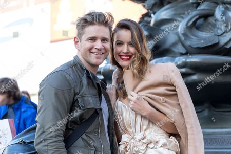 Editorial photo of Charlie Webster and Allan Leech out and about, London, Britain - 28 Oct 2014