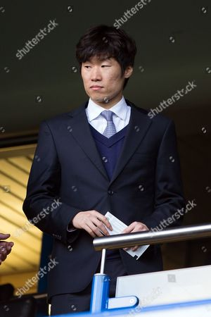 Ji-Sung Park watches from the stands