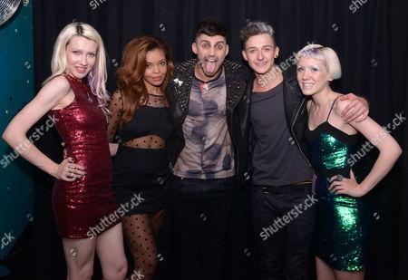 Jake Quickenden with Stephanie Nala, Blonde Electra and Jack Walton