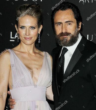 Demian Bichir and Stefanie Sherk