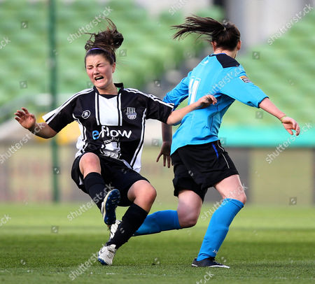Stock Picture of Jetta Berrill of UCD with Keeva Keenan of Raheny