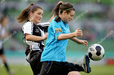 Editorial photo of FAI Continental Tyres WomenÕs Cup Final, Aviva Stadium, Dublin, UCD Waves vs Raheny United - 2 Nov 2014
