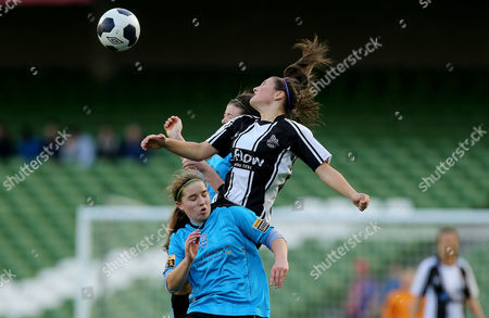 Stock Image of UCD's Orlagh Nolan and Jetta Berrill with Keeva Keenan of Raheny United