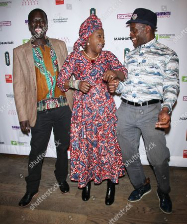 Stock Image of Okello Kelo Sam, Angelique Kidjo, Sahr Ngaujah