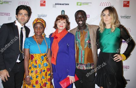 Stock Photo of Adrian Grenier, Beatrice Biira, Susan Sarandon, Okello Kelo Sam, Serinda Swan