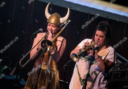 Stock Picture of Moe - guests - Natalie Cressman and Jennifer Hartswick