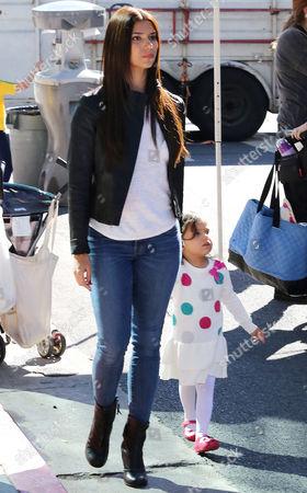 Editorial image of Roselyn Sanchez and daughter Sebella Rose Winter at the Farmers Market in Studio City, California, America - 02 Nov 2014