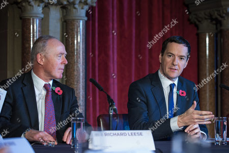 Sir Richard Leese and The Chancellor of the Exchequer, George Osborne MP at Manchester Town Hall signing a deal to devolve power to Greater Manchester, including giving the city a Mayor and greater control over its finances.