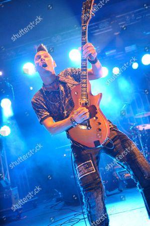 Pwllheli United Kingdom - November 30: Tim Rossi Of American Southern Rock Band Blackfoot Performing Live Onstage At Hard Rock Hell November 30