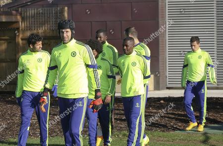 Petr Cech leads Diego Costa, Ramires, Willian, Zouma and Eden Hazard