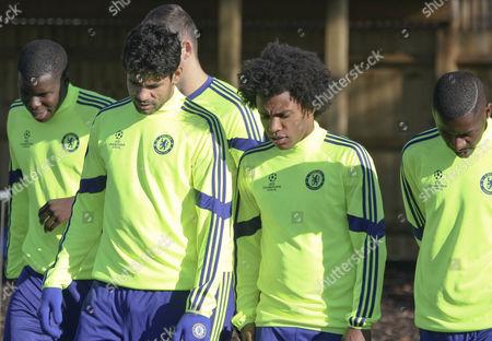 Zouma, Diego Costa, Willian and Ramires