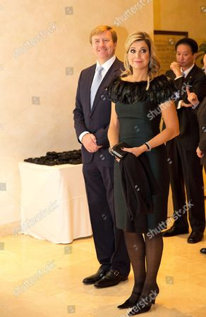 Queen Maxima and King Willem-Alexander attend a Lavinia Meijer concert at The Raum Art Center