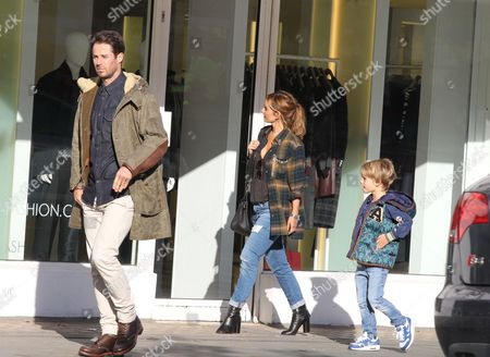 Editorial picture of Louise Redknapp and Jamie Redknapp shopping in Notting Hill, London, Britain - 04 Nov 2014