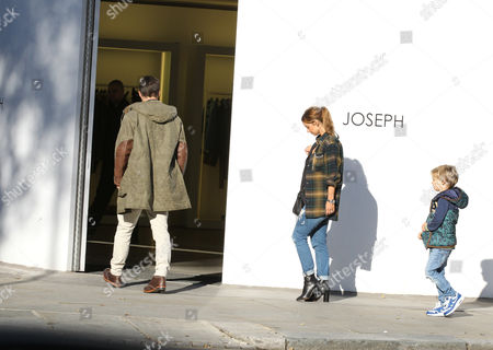 Editorial photo of Louise Redknapp and Jamie Redknapp shopping in Notting Hill, London, Britain - 04 Nov 2014