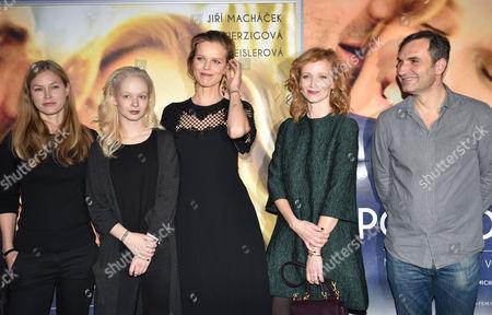 Mariana Kroftova, Anna Linhartova, Eva Herzigova, Anna Geislerova and Jiri Machacek