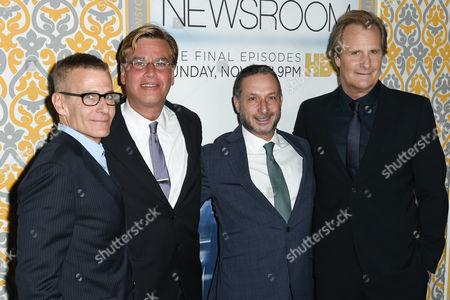 Michael Lombardo, Aaron Sorkin, Alan Poul, Jeff Daniels