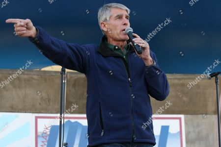 Senator Mark Udall makes a speech during a campaign stop at Metro State University, Auraria Campus in Denver, Colorado