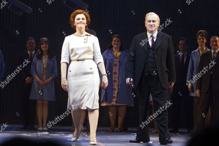 Sophie-Louise Dann (Barbara Castle) and Mark Hadfield (Harold Wilson)