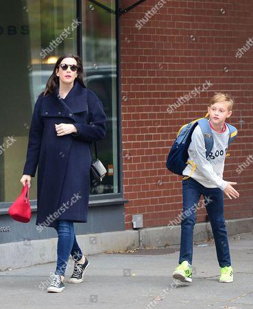Liv Tyler and son Milo Langdon