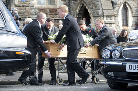 Alvin Stardust funeral in the St Thomas district of Swansea this afternoon