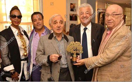 Ghada Sakir, Chico Bouchikhi, Charles Aznavour, Turkish Ambassador Hakki Akil and Erkan Ozerman