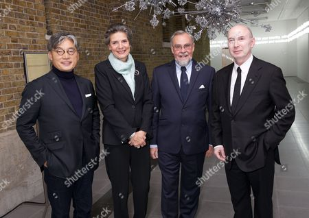 Stock Image of David Chu, Susanne Fournais Grube, Claus Grube (Danish Ambassador) and Murray Moss