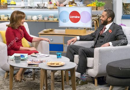 Lorraine Kelly and Samuel Anderson