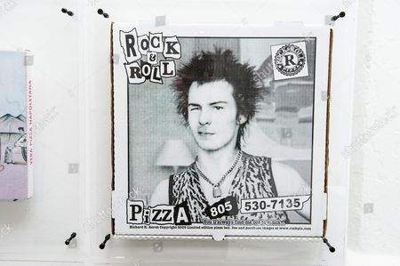 Stock Picture of Box featuring Sid Vicious, a Limited edition from Rock and Roll Pizza, California