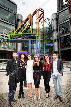 Cameron Moore (Cameron), Twinnie-Lee Moore (Porsche), Jennifer Metcalfe (Mercedes), Gemma Merna (Carmel), Nikki Sanderson (Maxine) and Danny Mac (Dodger)